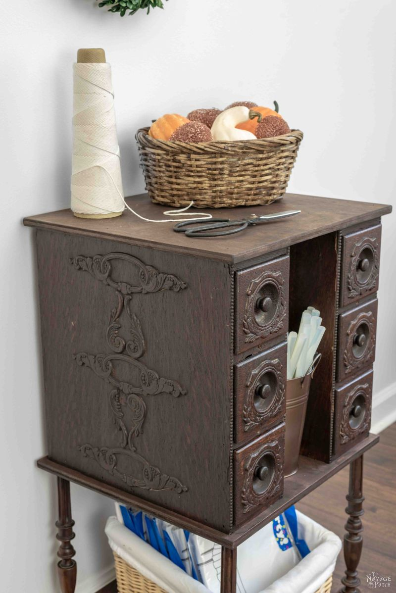 Antique Sewing Machine Drawer Upcycle
