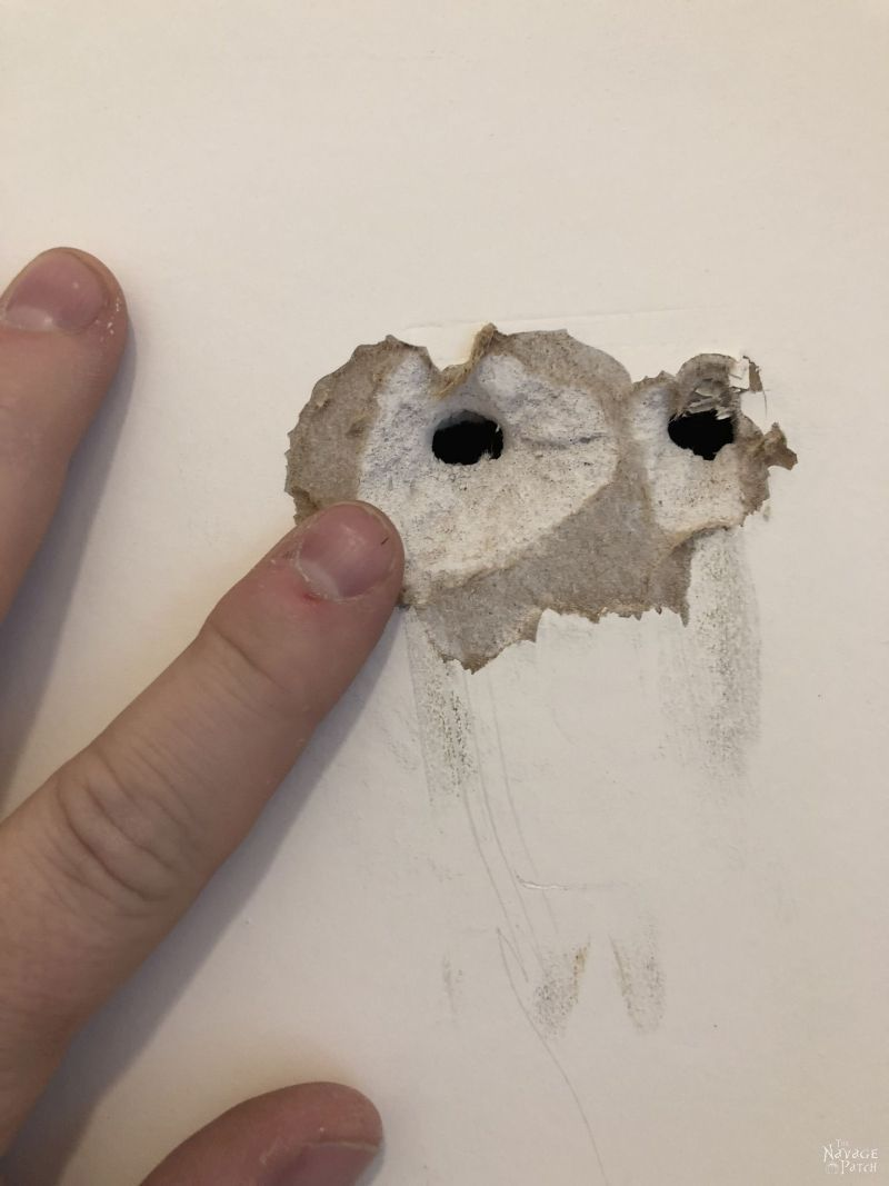 drywall hole
