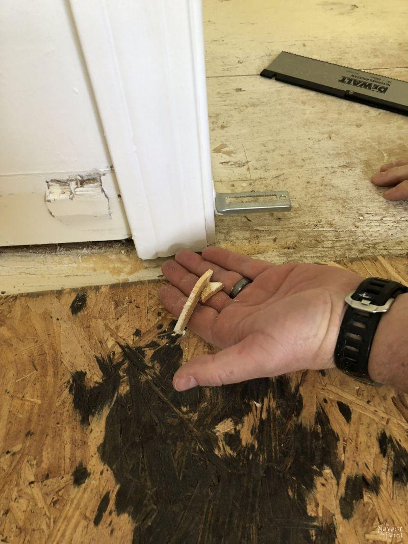 cutting trim with a flush cut saw