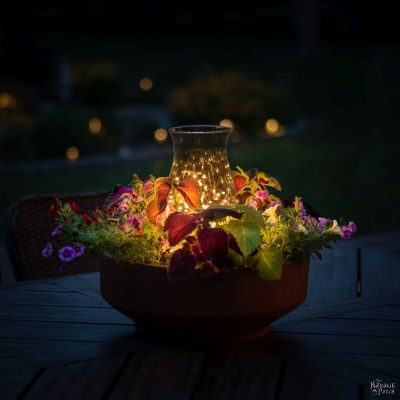 DIY Candle Planter Centerpiece | TheNavagePatch.com