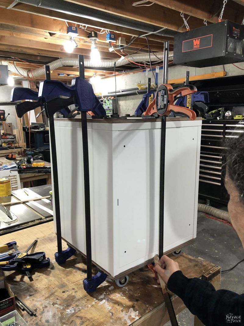 clamped up cabinet