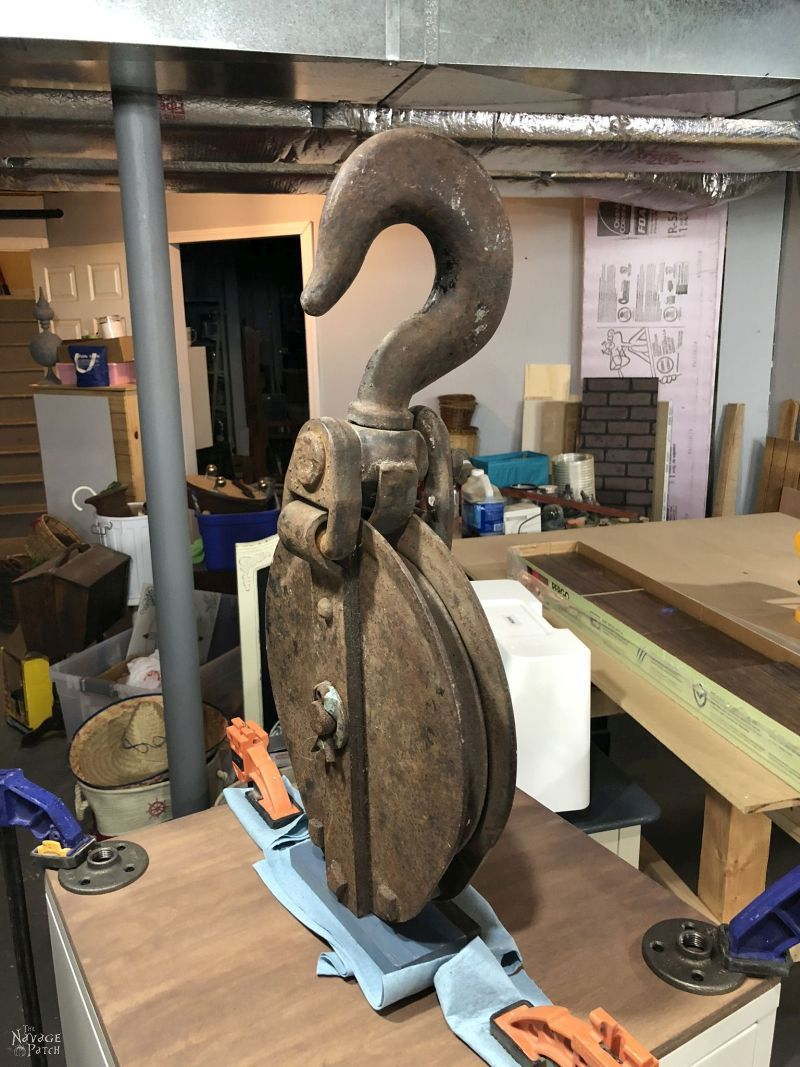 big iron pulley hook