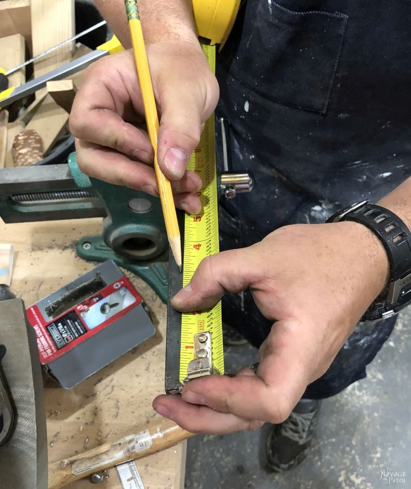 marking angle iron to drill