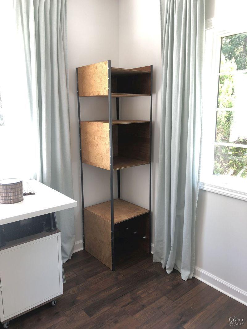 assembling diy industrial bookshelf / storage tower