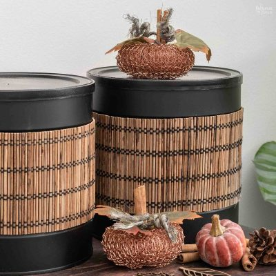 coffee can repurpose storage solution