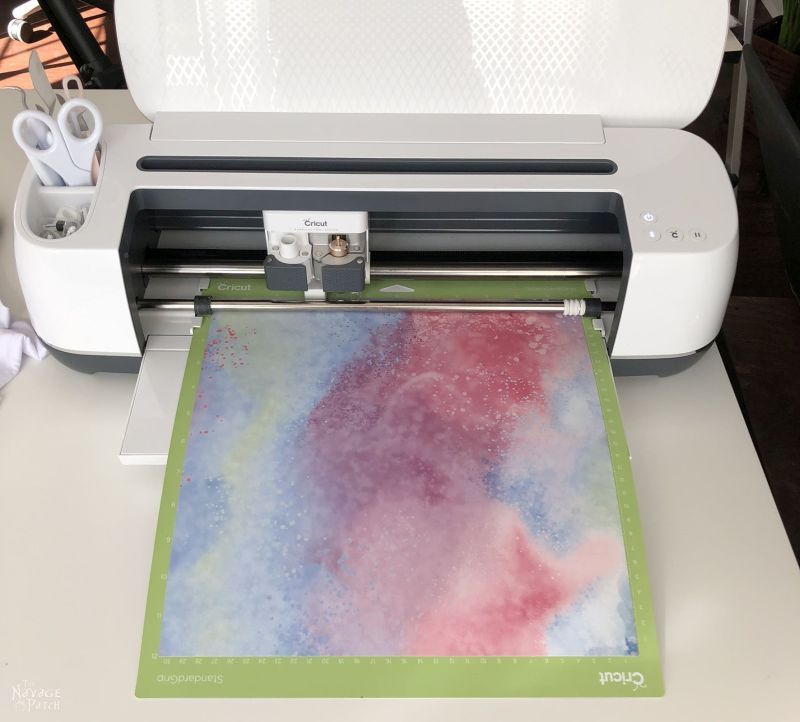 infusible ink transfer sheet in a cricut maker