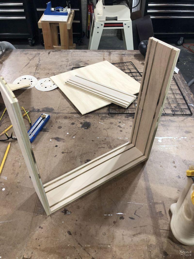 building a diy craft paint storage rack