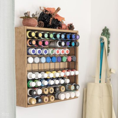 diy craft paint storage rack featured image