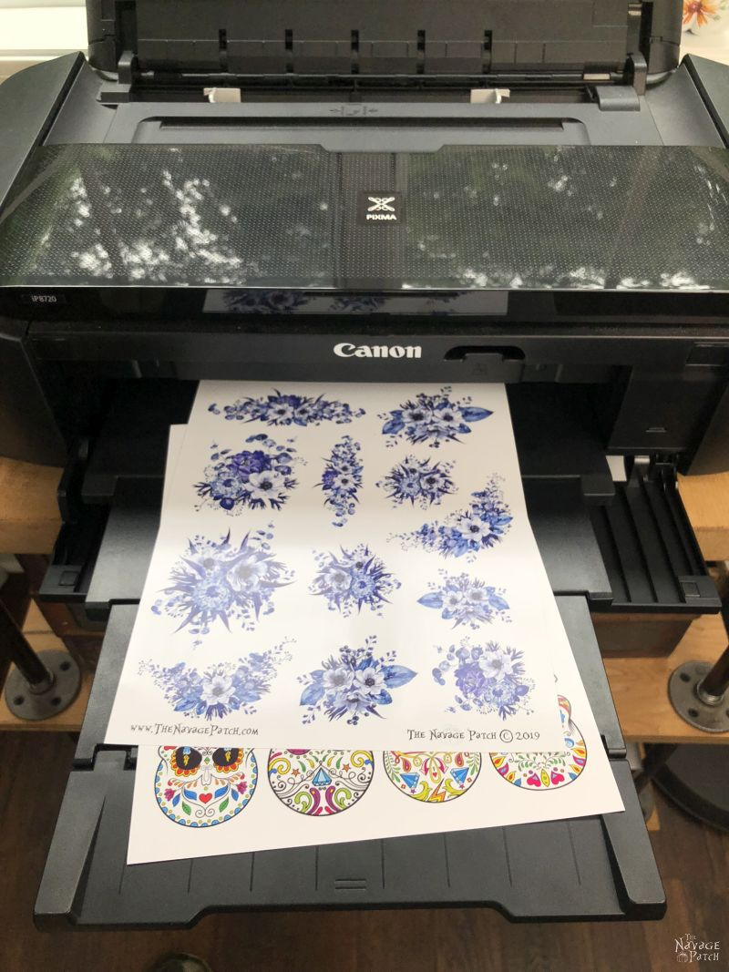 floral tattoo designs on an inkjet printer