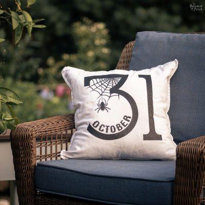 diy iron-on halloween pillows