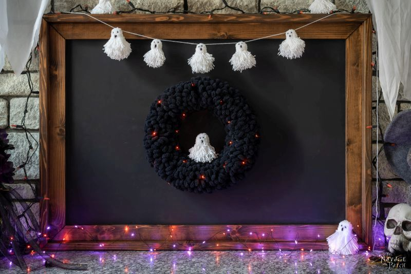 diy pom pom ghosts