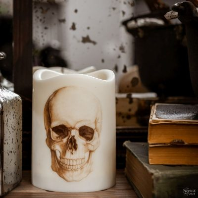 DIY Halloween candles inspired by pottery barn
