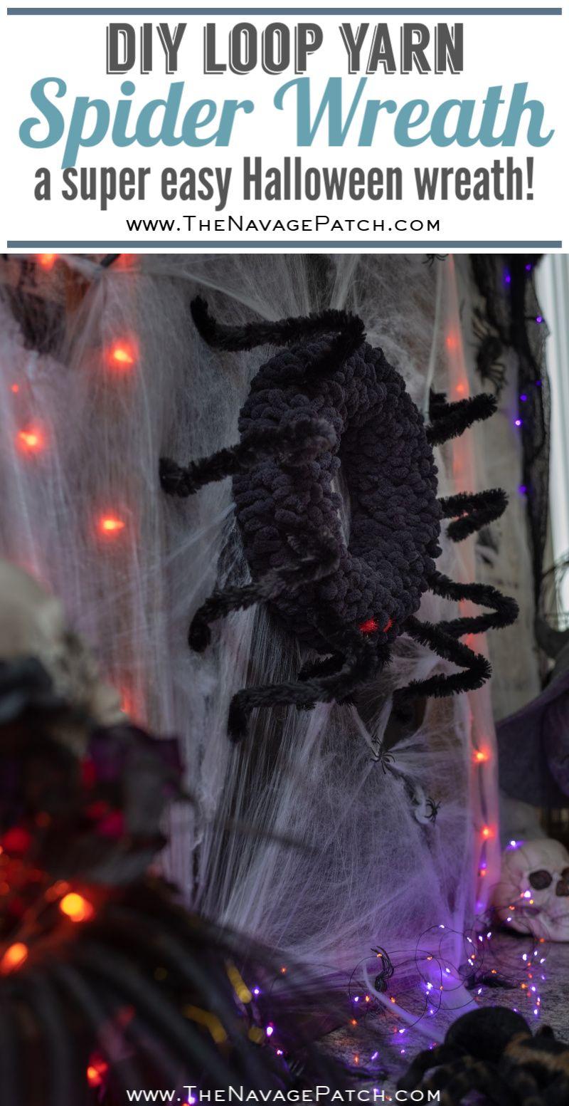 Diy Spider Wreath The Navage Patch