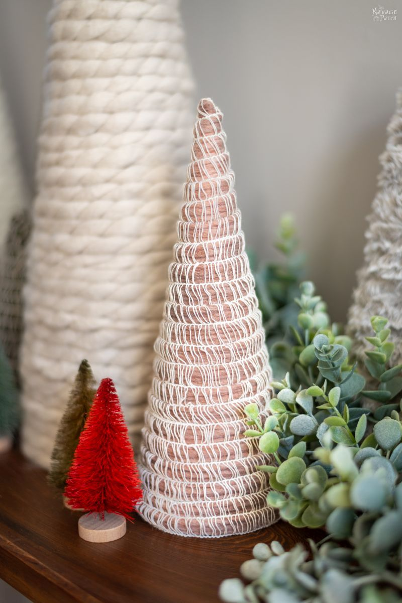 diy mambo yarn tree on a table
