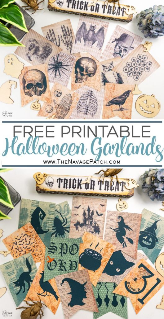 Printable Halloween Garlands - Pin image TNP