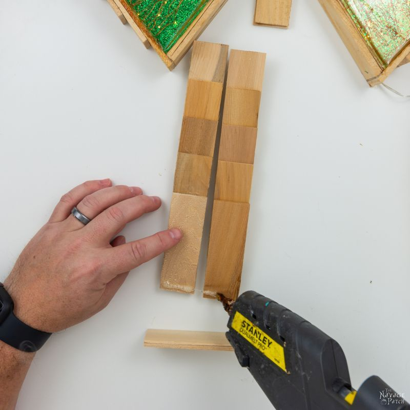 gluing a shim tree