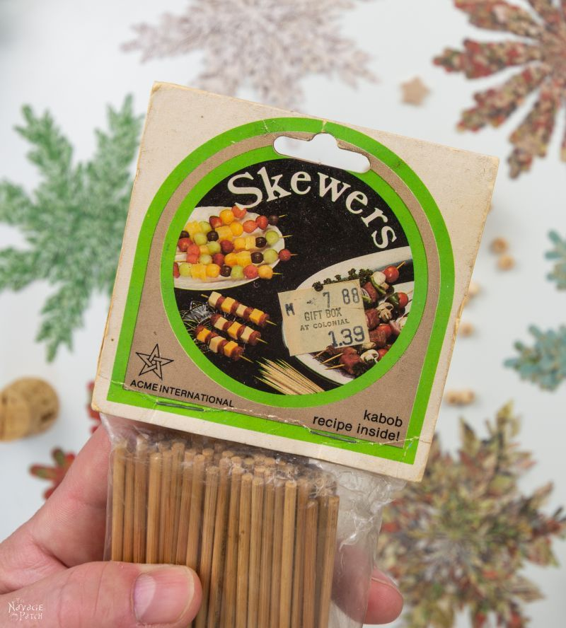 old package of bamboo skewers