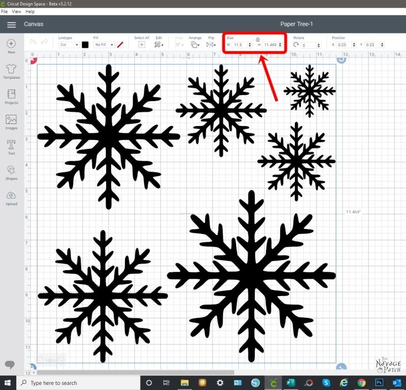 Resizing the SVG on Cricut Design Space