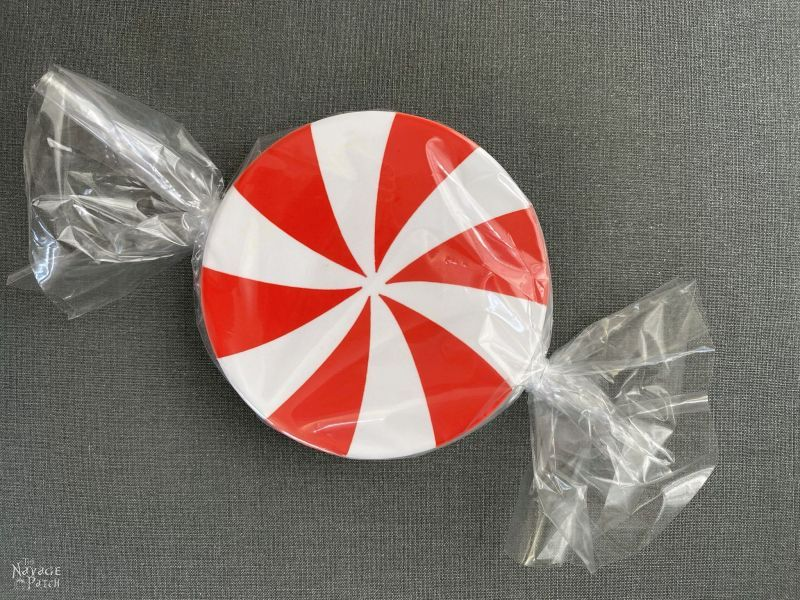 peppermint candy coaster