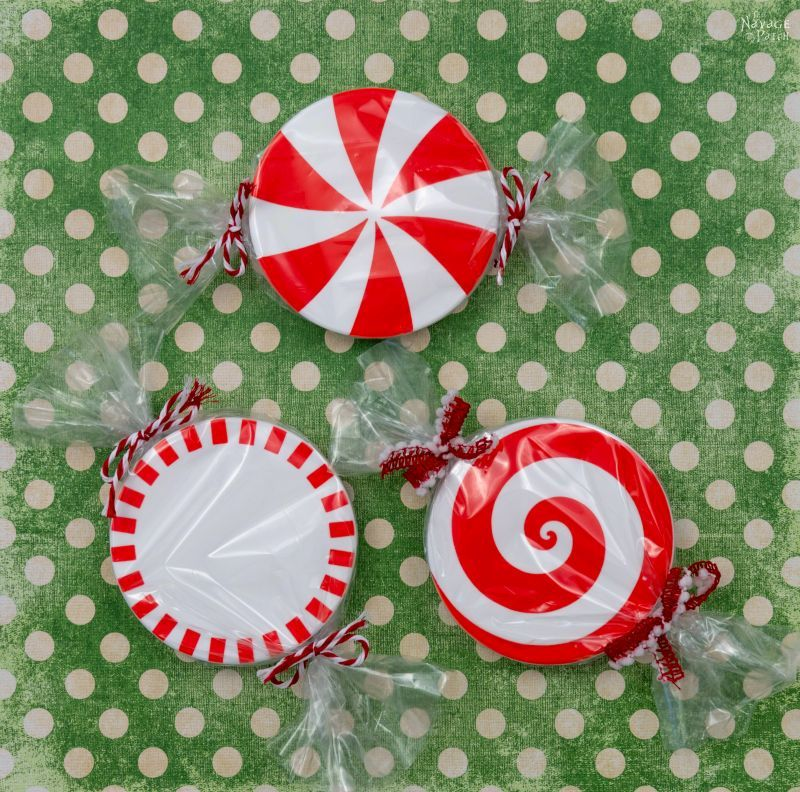 DIY Peppermint Candy Coasters