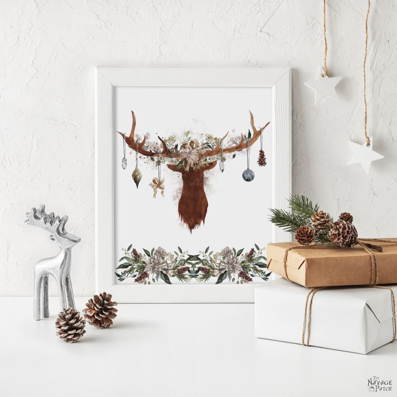 20 Watercolor Winter Woodland Printables by TheNavagePatch.com