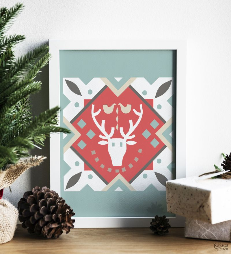 Barn Quilt Christmas Printables by TheNavagePatch.com