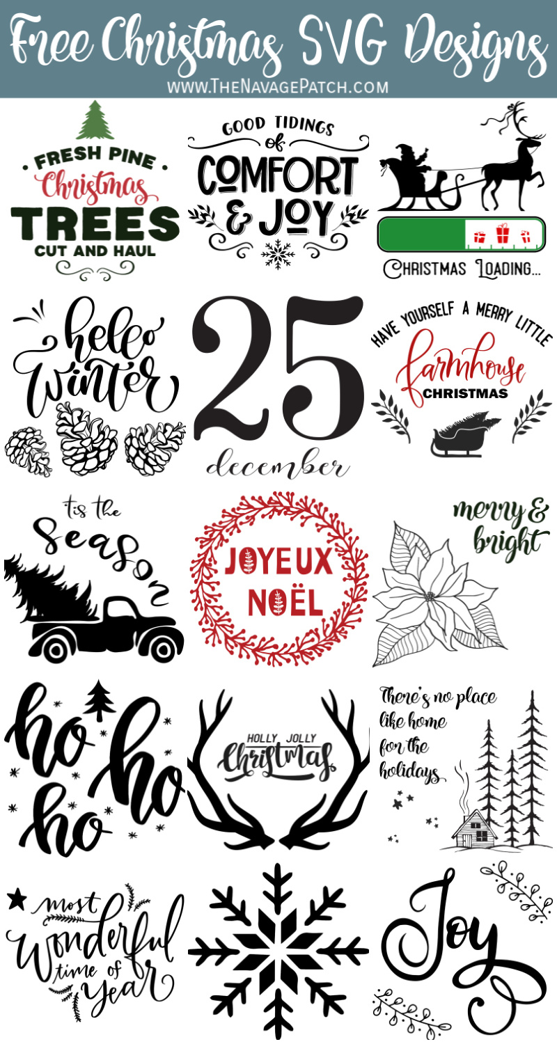 DIY Christmas Pillows with 15 Free SVG Designs