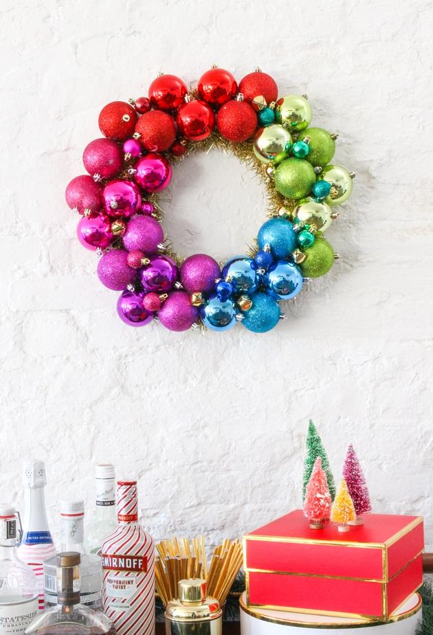 DIY Christmas Wreath Ideas by TheNavagePatch.com - DIY Ornament Wreath
