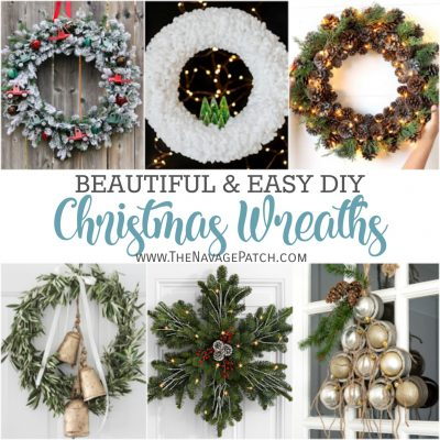 DIY Christmas Wreath Ideas by TheNavagePatch.com