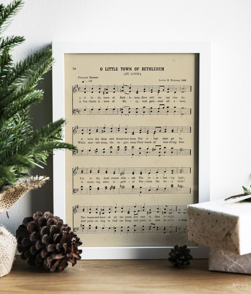Free Vintage Christmas Carol Printables by TheNavagePatch.com