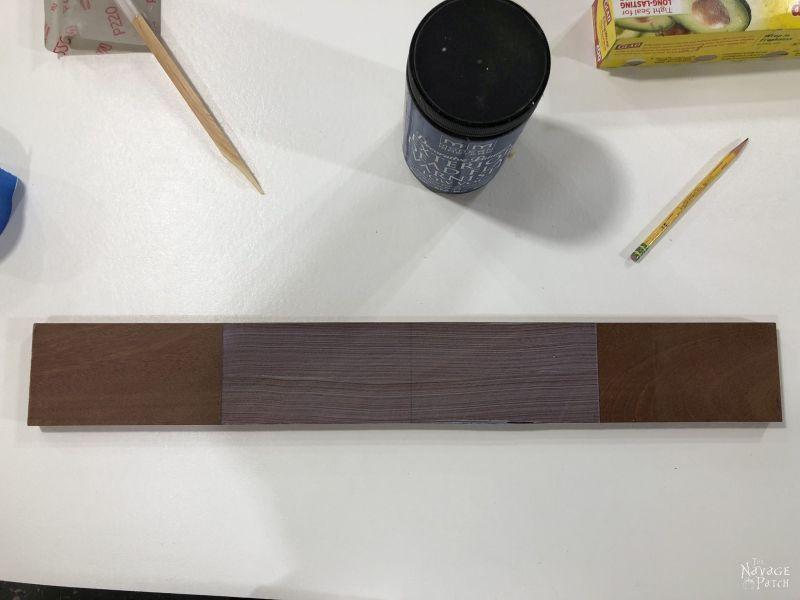 mahogany board and dead flat varnish