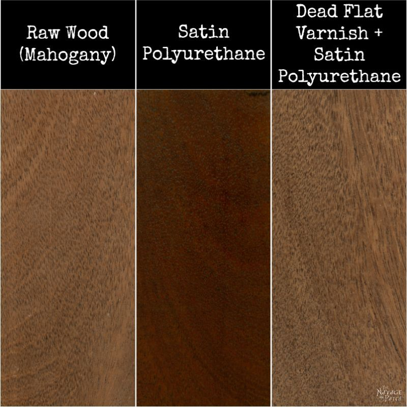 comparison of raw wood and varnish