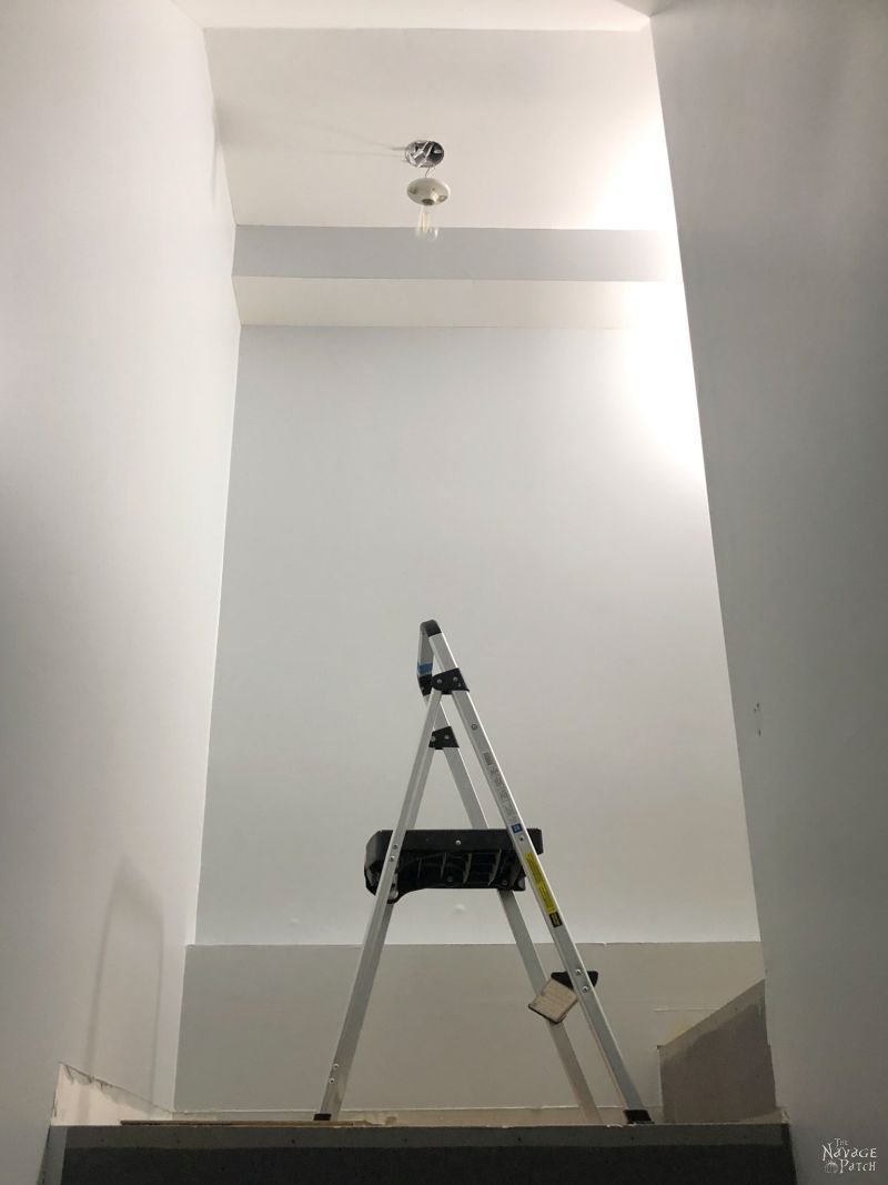 painted basement staircase walls