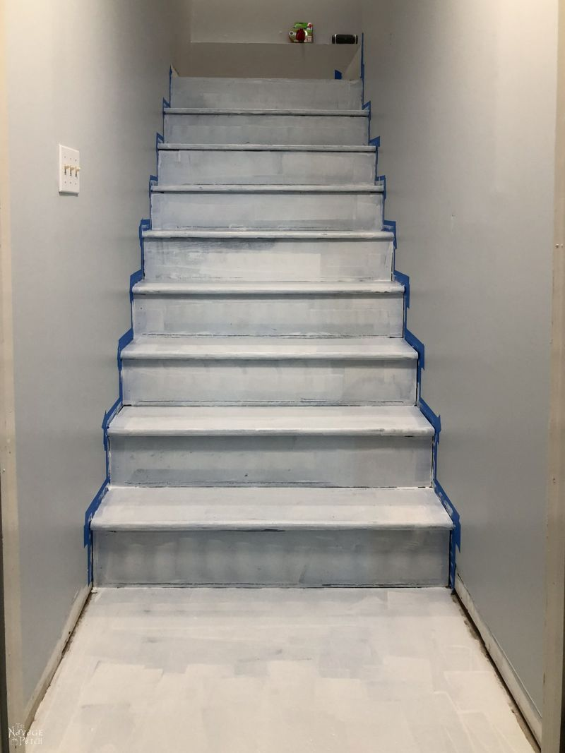 primed basement stairs