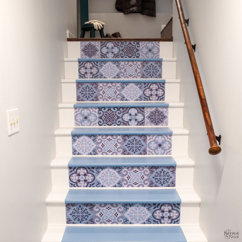 Painted Basement Stairs The Navage Patch, Easiest Way To Paint Basement Stairwell