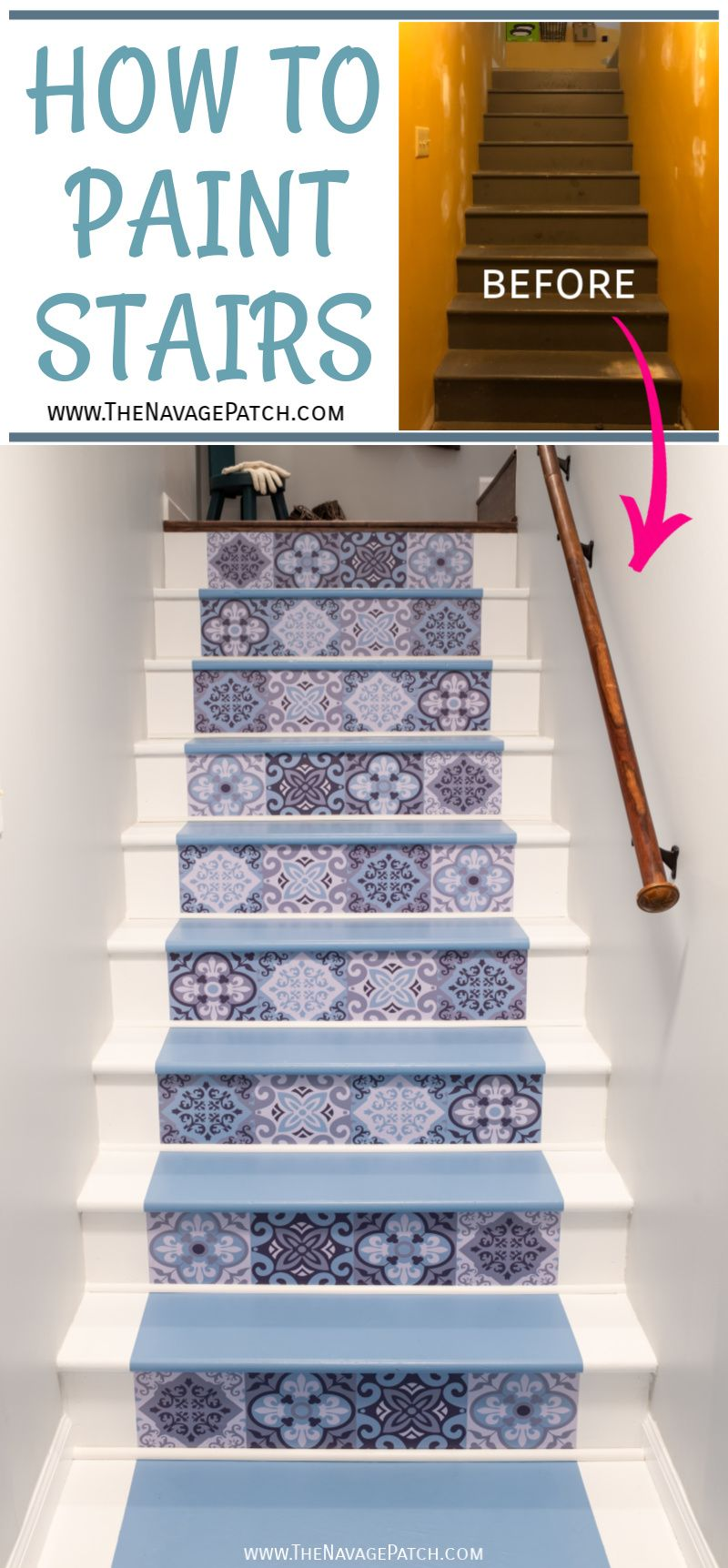 Painted Basement Stairs