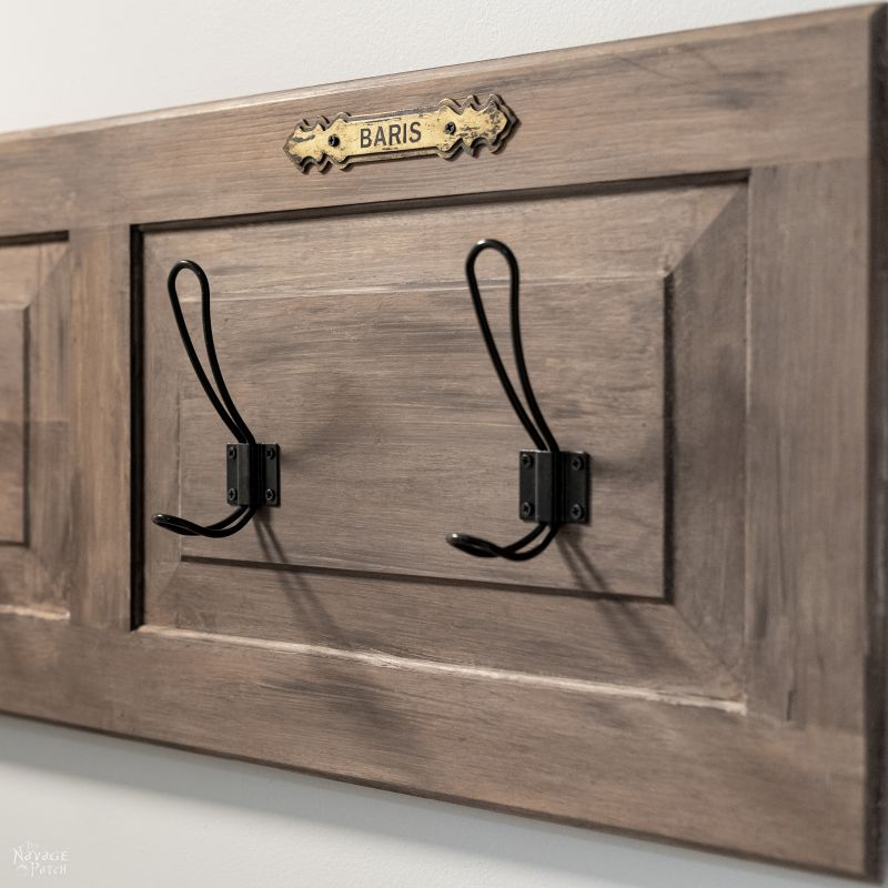 upcycled coat rack and easy aged wood