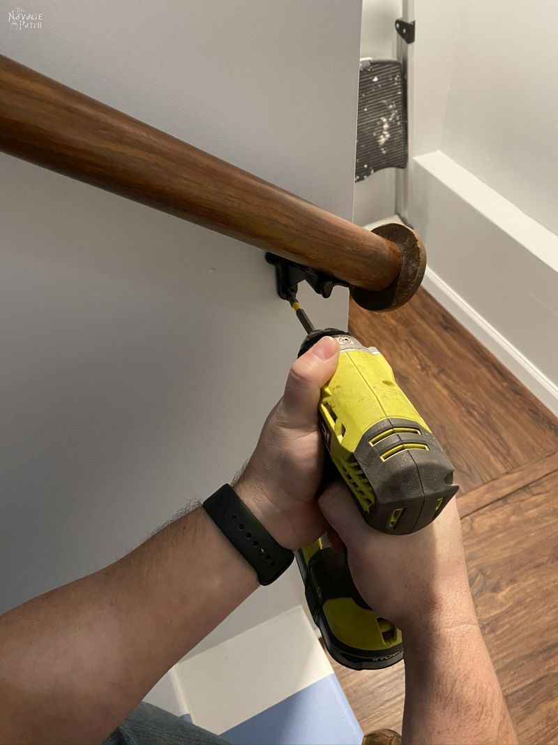 installing an upcycled diy handrail