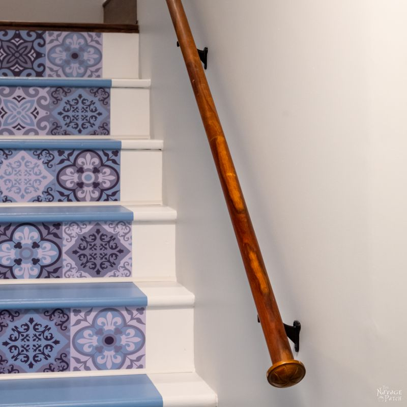 upcycled diy handrail