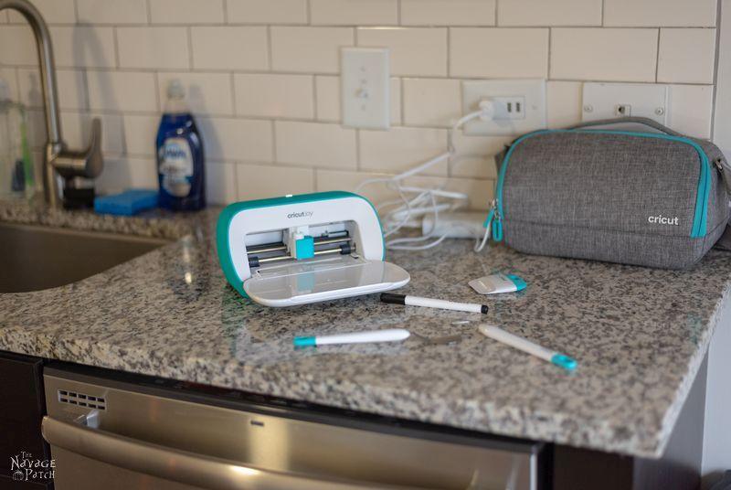 Cricut Joy on a kitchen counter