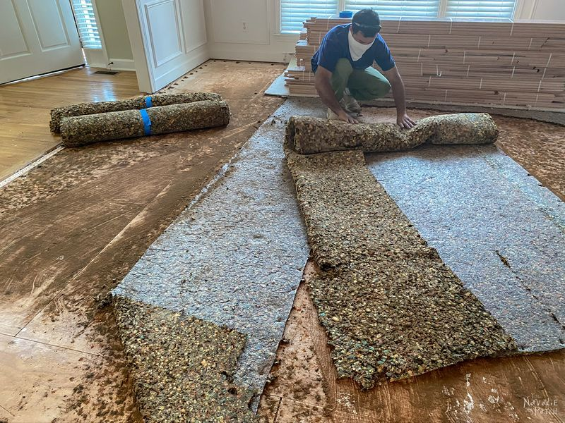 removing carpets to reveal nasty stuff underneath