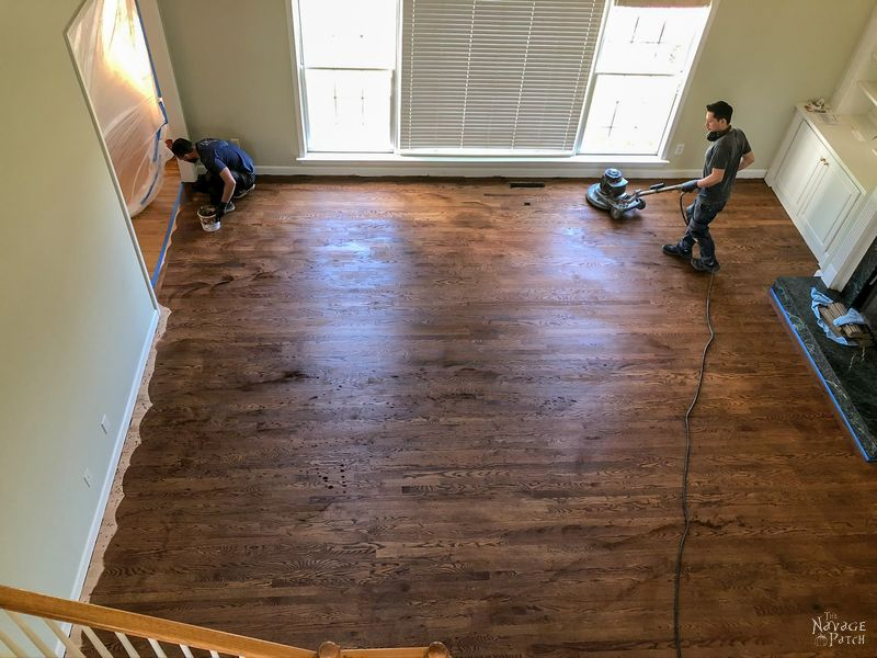 staining a hardwood floor