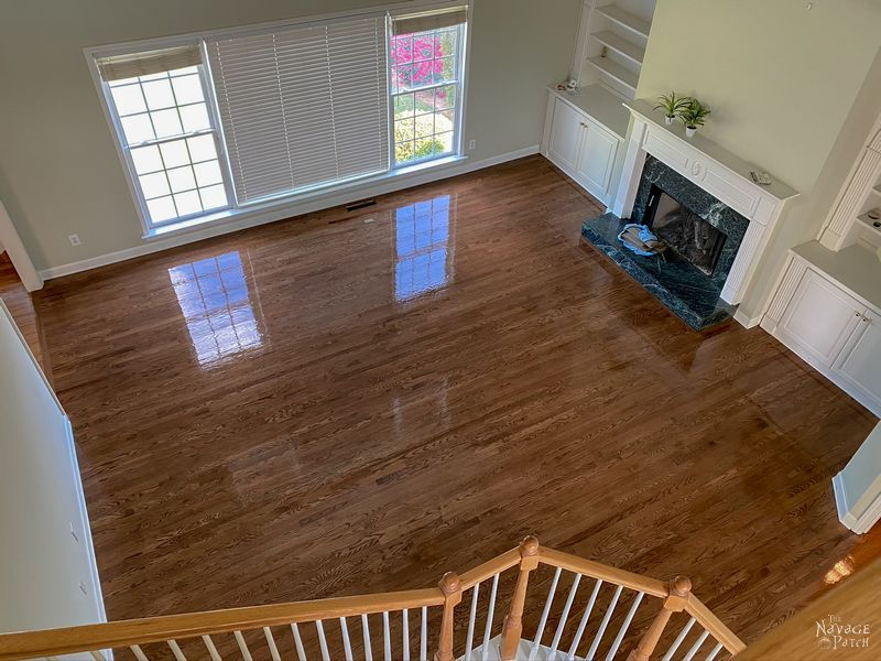 wet finish on a hardwood floor