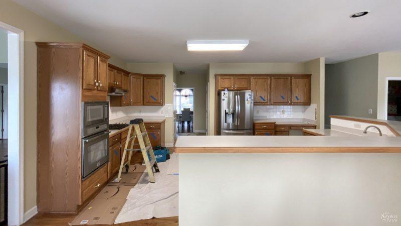 preparing a kitchen for demolition
