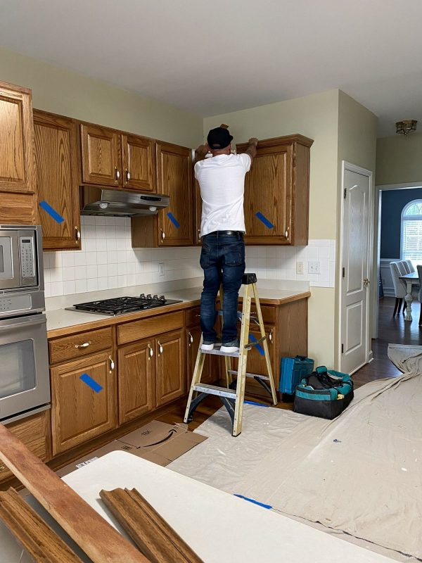 removing trim from kitchen cabinets