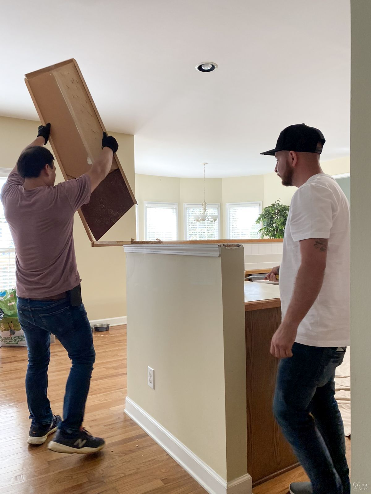removing kitchen island counter