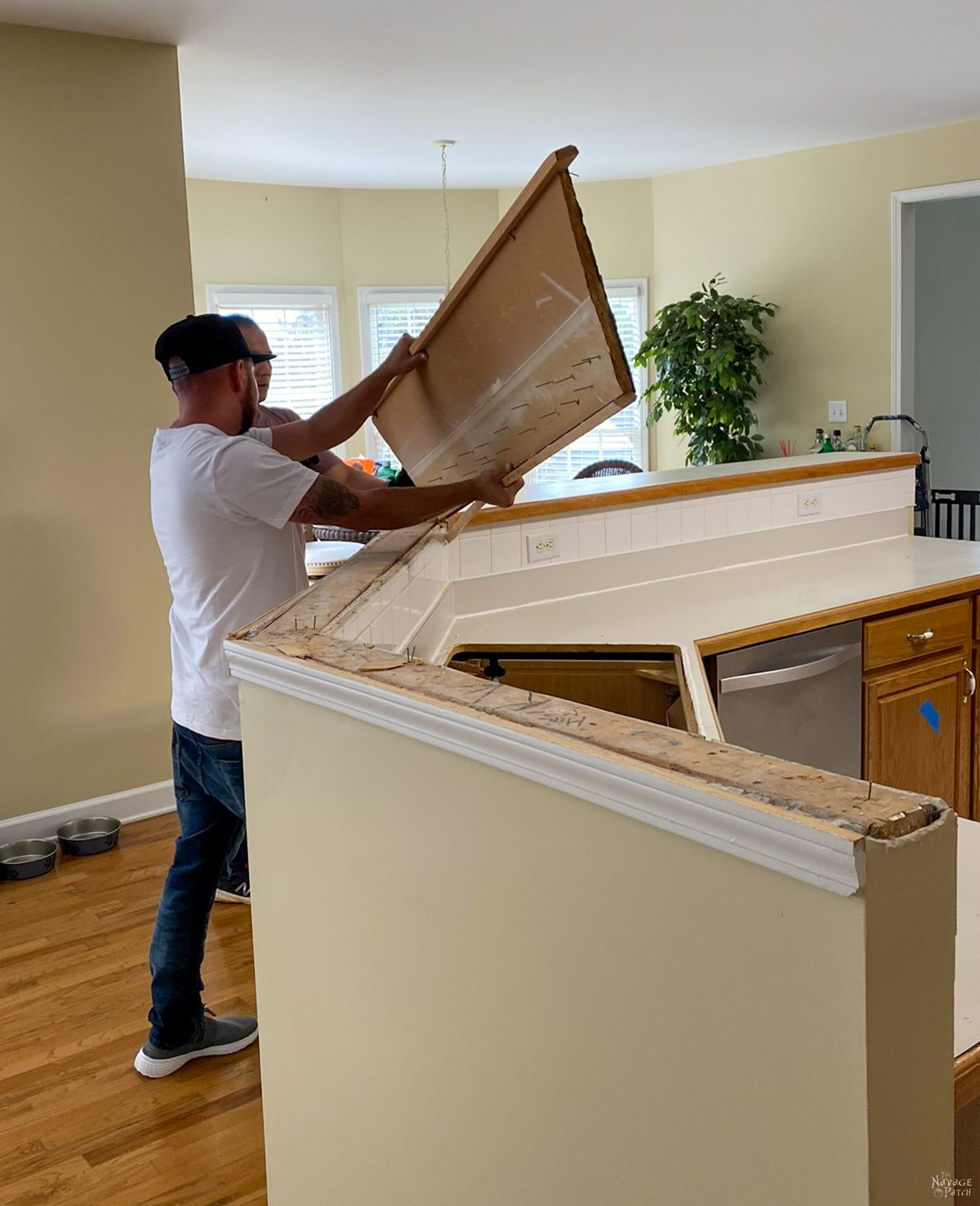 removing kitchen countertop