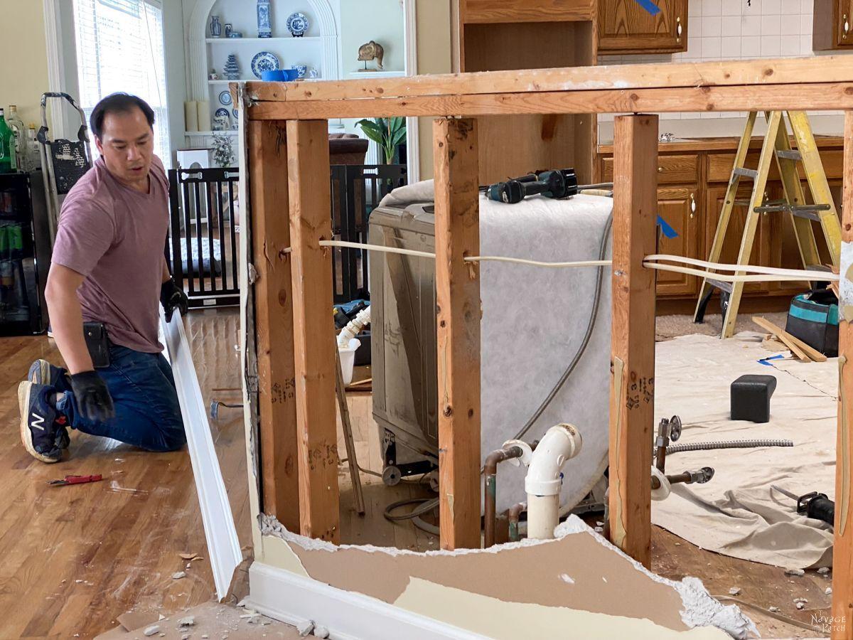 kitchen island demolition