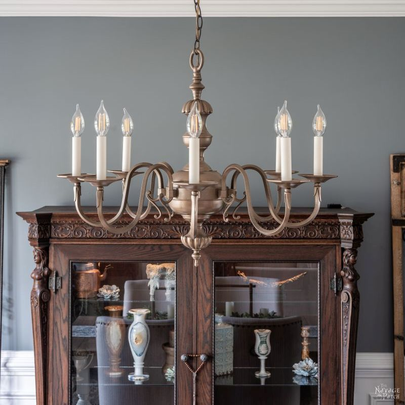 how to spray paint a chandelier