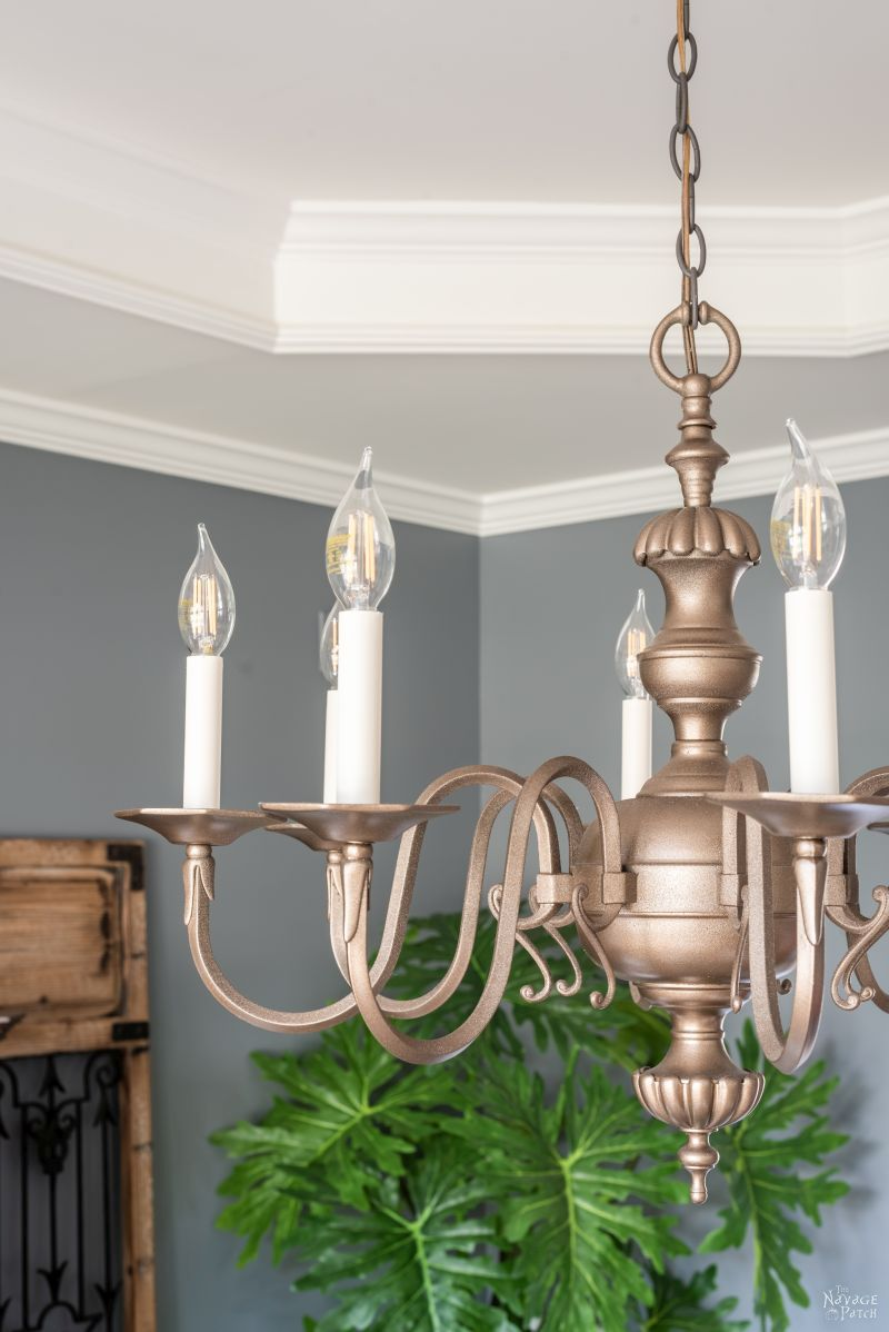 easy diy chandelier makeover